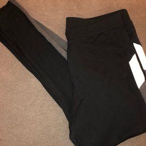 White, Grey & Black Panel Leggings